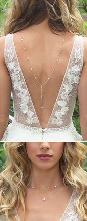 Die ultimative Halskette für ein V-förmiges Kleid mit niedriger Rückenpartie!…