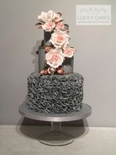 Think about sugar flowers an edible gum paste design that has wire/toothpicks on… – Cake Designs