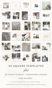 Social media templates – Lemon Bay Collection – easy to edit, Pinterest, Facebook and Instagram templates