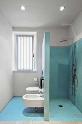 Badezimmer mit italienischer Dusche: natürlich und entspannend