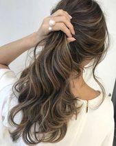 49 Schöne hellbraune Haarfarbe für einen neuen Look Wunderschönes Balayage-Haar …   – light brown hair ideas