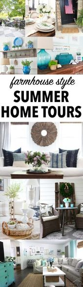 Farmhouse Style Home Tours Full of Summer Decorating Inspiration