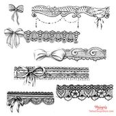 lace garter tattoo design    – Motive