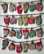 Countdown to Christmas with a crocheted advent calendar!The pattern contains ins…