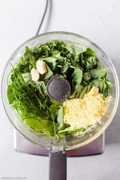 Spinach, Basil and Chive Pesto (Nut Free)