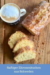 Schnelles Rezept für einen Zitronenkuchen aus Schweden: Schwedischer Kuchen der schnell zu backen ist. Dieser Kuchen aus Rührteig schmeckt wie Somme… – Backen – Torten, Kuchen & Gebäck