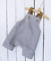 Combinaison en lin pour bébé garçon Combishort bébé garçon Garçons – #Baby #boy #Boys #linen #Ov …   – Schwanger Ideen