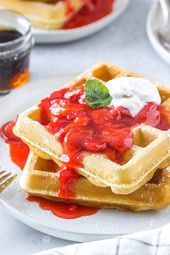 Homemade Waffles   – Simply Whisked Breakfast Recipes