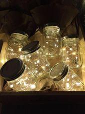 Firefly Lichter und Mason Jar, Outdoor, Blitz, rustikal, Lichterkette, Mason Jar Lichter, Lichterkette, Hochzeit Lichter, Hochzeit