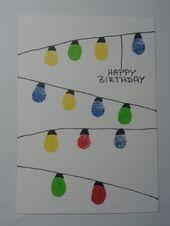Stempel seinen Geburtstag mit dem Finger   – Kinder – kreativ, basteln, malen