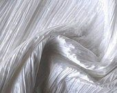 White Crushed Art Silk – 1 Yard