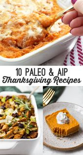 10 Paleo & AIP Recipes to make for Thanksgiving