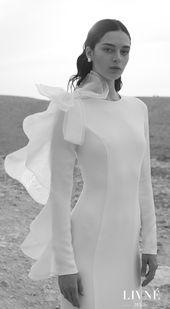 Elegent Aline Brautkleid / Off The Shoulder Brautkleid / Winterhochzeit