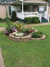 Wunderschöne und hübsche Vorgarten Garten und La…