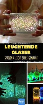 Diese leuchtenden Gläser sind spielend leicht sel…