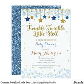 Baby Showers Twinkle Custom Twinkle Little Star Baby Shower Invitation