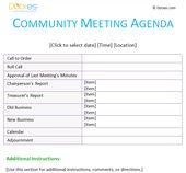 All Day Meeting Agenda Template In EmailMessage  Agenda