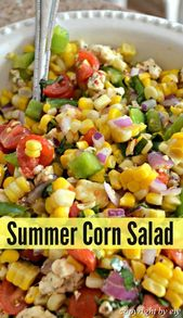 Fresh #& #Easy #Summer #Corn #Salad  This delicious corn salad with bright fresh…