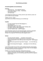 Formulierungshilfen Fur Eine Erorterung Unterrichtsmaterial Im Fach Deutsch In 2020 Formulierungshilfen Erorterung Satzanfange