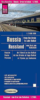 Reise Know-How Landkarte Russland – vom Ural zum Baikalsee 1:2.000.000 Russia – From the Urals to the Lake Baikal R Buch