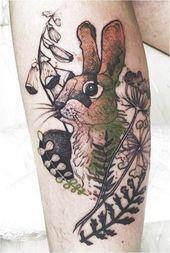 nice rabbit tattoo Kaninchen #TattooInspiration Hier klicken, um mehr zu sehen.