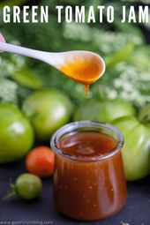 Green Tomato Jam – what to do with those green tomatoes? How about making Jam fr…