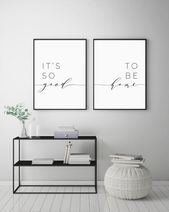 It's So Good To Be Home Printable Sign Set, Bedroom Quote Decor, Living Room, Wall Art Prints, Insta