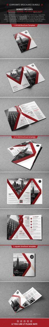 Brochure Bundle 09 — Photoshop PSD #marketing #technology