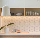 Fliesen für eine Küche im skandinavischen Stil