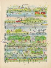 Colorful Everyday Scenes Illustrated on Vintage Sheet Music by 'People Too' – 🌷Steffi🌷