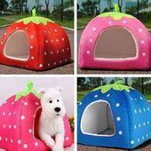 Barato tela de fresa plegable perrera suave encantadora productos para mascotas cama …   – Abigaíl Vera
