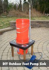 Diy Outdoor Foot Pump Portable Sink Instructions Camping Tools Camping Sink Diy Camping