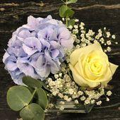 #Hochzeit #tishdeko # Hortensie # weiß # blau # weiß   – hortensien