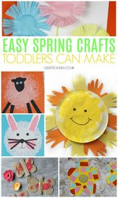 30 Straightforward and Enjoyable Spring Crafts for Toddlers