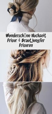 Gorgeous wedding hairstyle & bridesmaid hairstyles