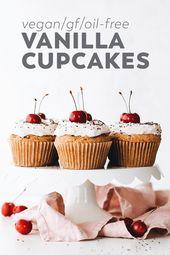 Vegan Vanilla Cupcakes (Gluten-Free and Oil-Free)