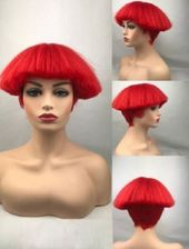 Wie Echthaar£¡Mode Nat¨¹rliche Damen Kurz Glatt Rot Volle Per¨¹cken wig#Na…