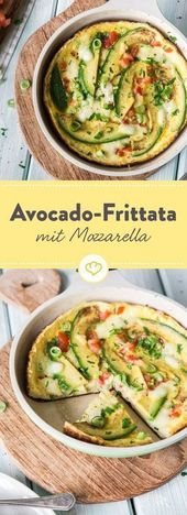 Glücklich in den Feierabend: Avocado-Mozzarella-Frittata