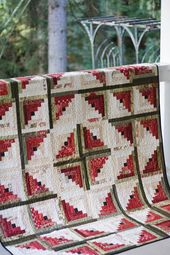 Quilt Patterns PDF Log Cabin Quilt Pattern Easy Quilt Pattern Beginner Quilt Pattern Scrappy Quilt P