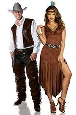 Indian Couple Costumes | Cowboy and Indian Couple Costume  sc 1 st  Pinterest & Halloween http://www.planetgoldilocks.com/halloween/sales.html Wild ...