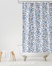 Bloom Bluebell Shower Curtain Default Title Colorful Shower