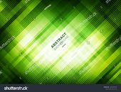 Abstract striped green grid pattern with lighting on dark background. Geometric squares overlapping design technology style. You can use for cover des…
