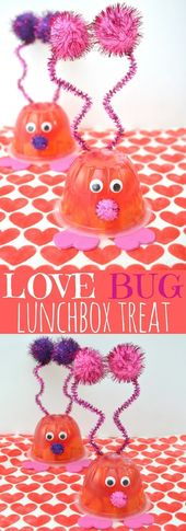 Love Bug Valentine Snack Cup and Free Kids Valentine Printable