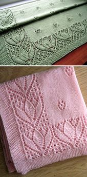 Tulips & Rosebuds Baby Blanket – Free Pattern