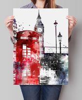 London Big Ben Art, London Art, London Print, London Decor, London Print Wall Art,British Decor (20)
