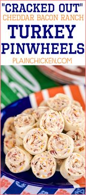 Cracked Out Turkey Pinwheels – I am ADDICTED to these sandwiches! Cream  cheese …
