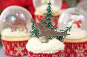 Cupcakes de globo de nieve con burbujas de gelatina | De SugarHero.com   – Candy apple recipe
