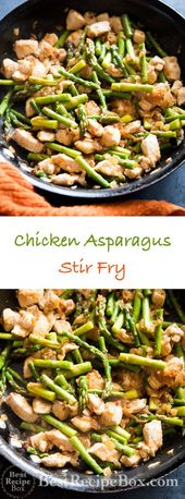 Asparagus and chicken stir fry #healthystirfry Delicious and Healthy Chicken Asp…