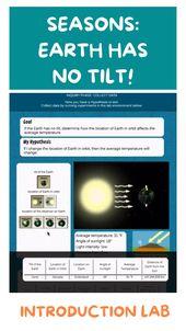 Earth has no tilt! Seasons! Introduction Lab <a href=