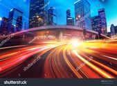 """""""Abstract speed technology background including night view of Hong Kong city"""" stock photo (edit now) 692208199"""